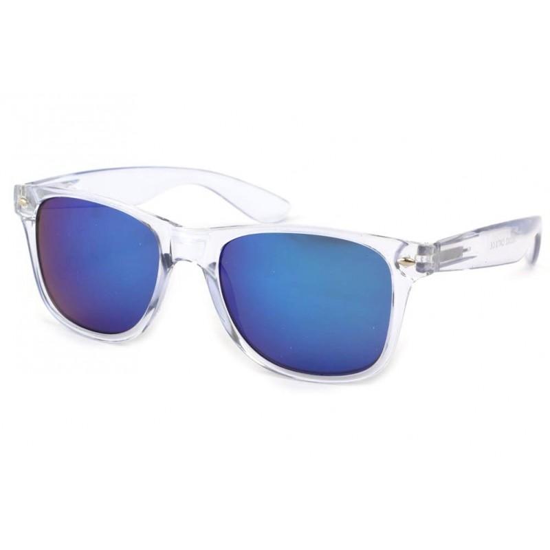lunettes de soleil transparentes et bleues site lunettesloupe. Black Bedroom Furniture Sets. Home Design Ideas