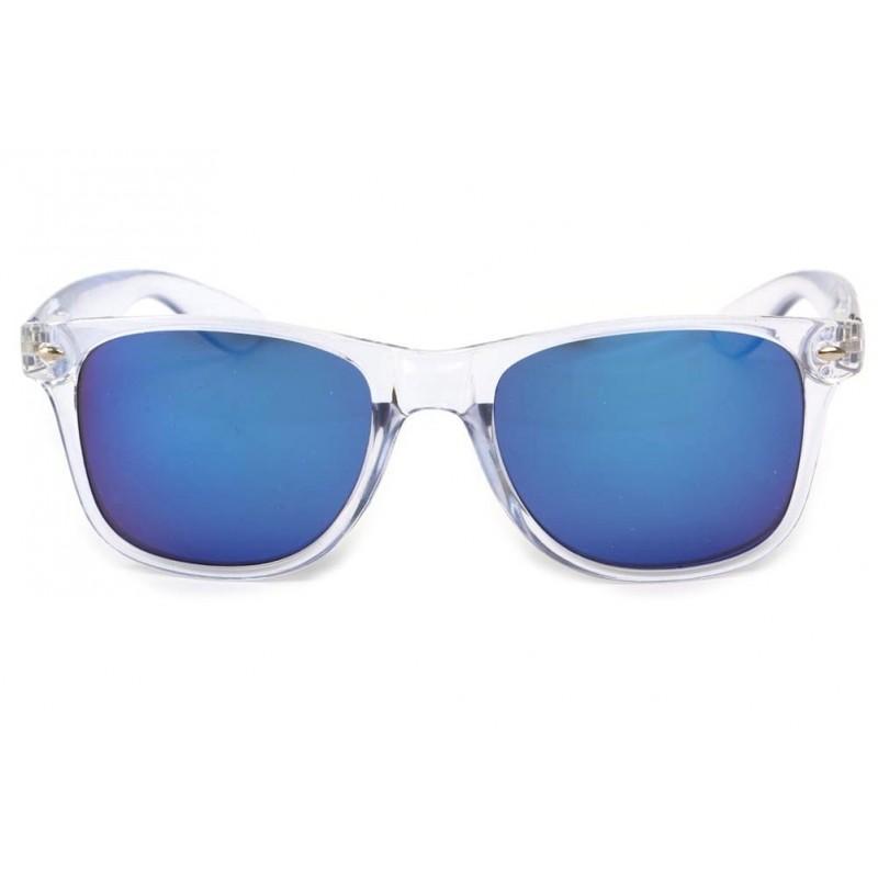 lunettes de soleil transparentes et bleues site. Black Bedroom Furniture Sets. Home Design Ideas