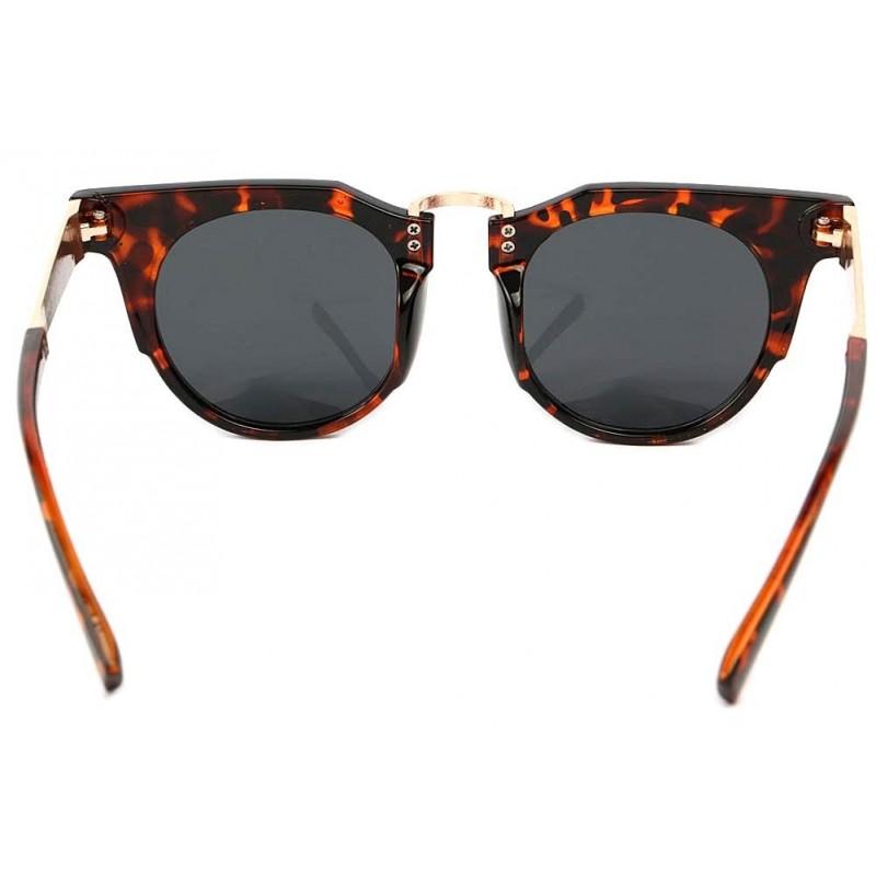achat lunettes de soleil r tro ecaille marron et dor e luka eye wear. Black Bedroom Furniture Sets. Home Design Ideas