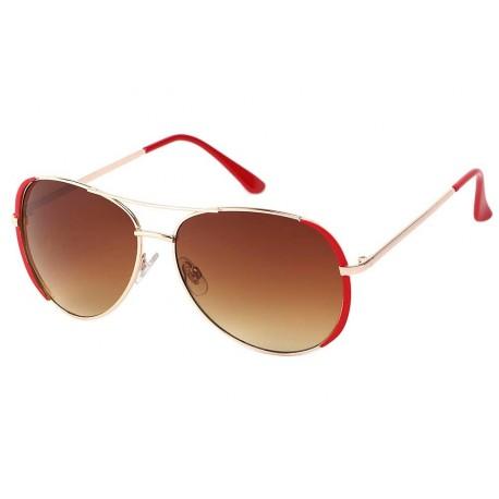 Lunettes de Soleil Rouge et Or Robin Lunettes de Soleil Eye Wear
