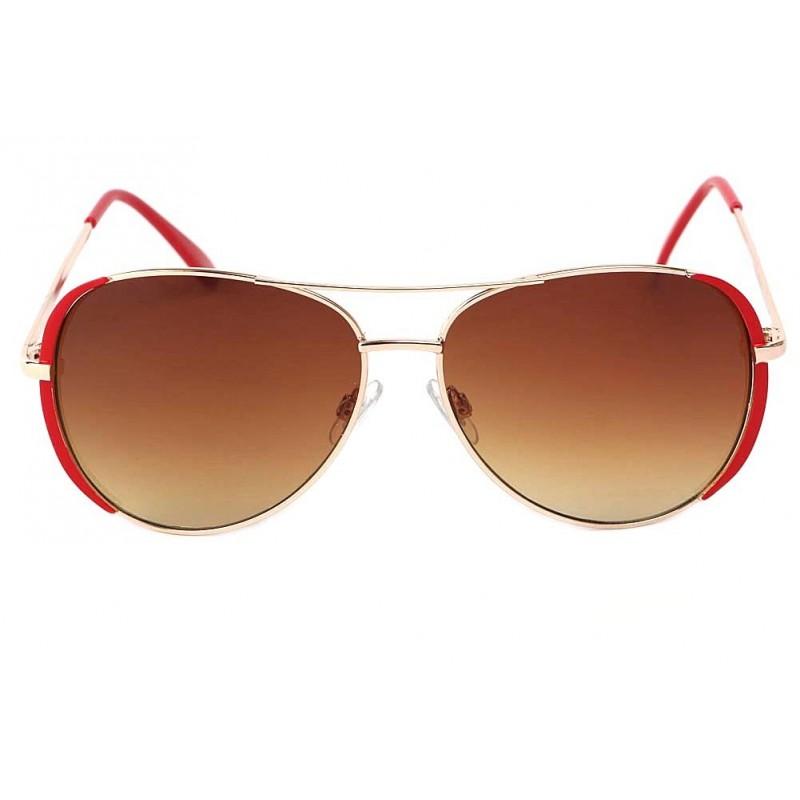 achat lunette de soleil rouge et or femme robin shop lunettesloupe. Black Bedroom Furniture Sets. Home Design Ideas