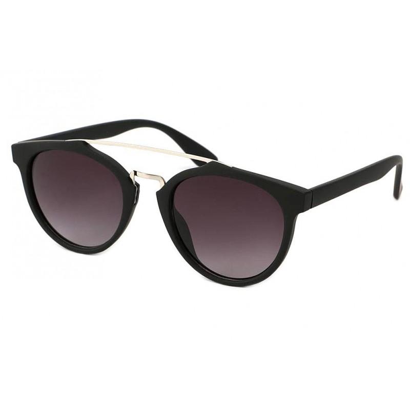 achat lunettes de soleil rondes noire mat girl. Black Bedroom Furniture Sets. Home Design Ideas