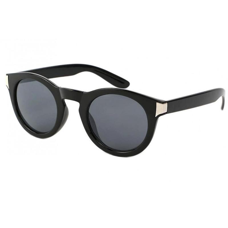 achat lunette de soleil ronde noire really style pur. Black Bedroom Furniture Sets. Home Design Ideas