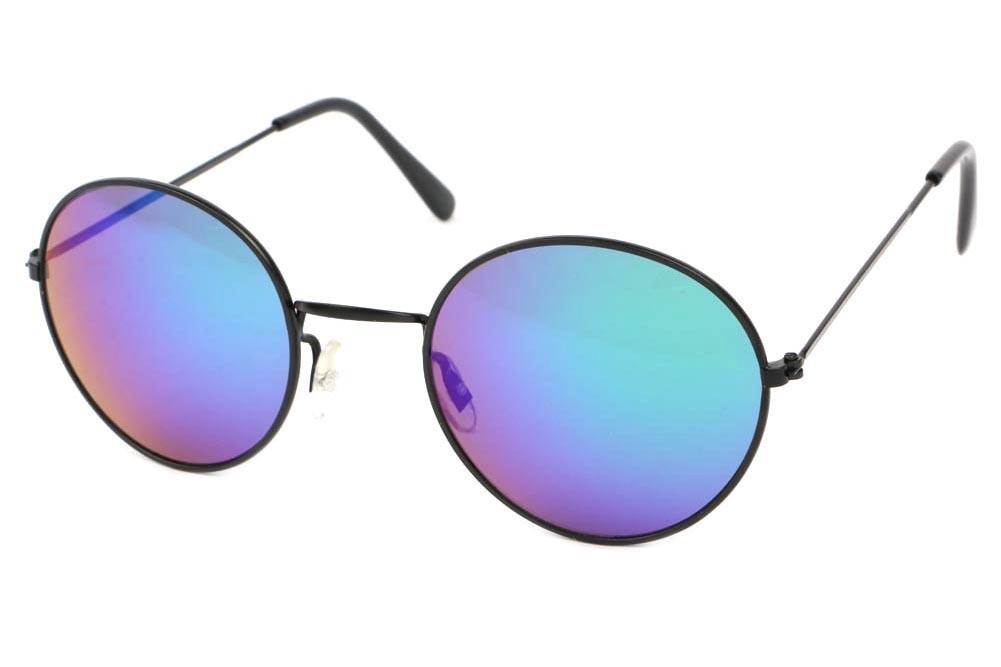 16d63670dc2c6 Lunette de soleil ronde bleu - Monture optique et lunette