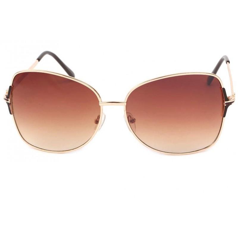 achat lunette de soleil femme dor et marron babe site lunettesloupe. Black Bedroom Furniture Sets. Home Design Ideas