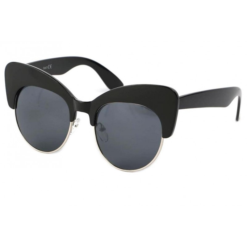 achat lunettes de soleil vintage maryline noir. Black Bedroom Furniture Sets. Home Design Ideas