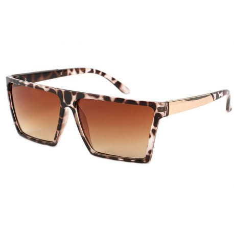 Lunettes de Soleil Fashion Leopard Rectangle Cuba
