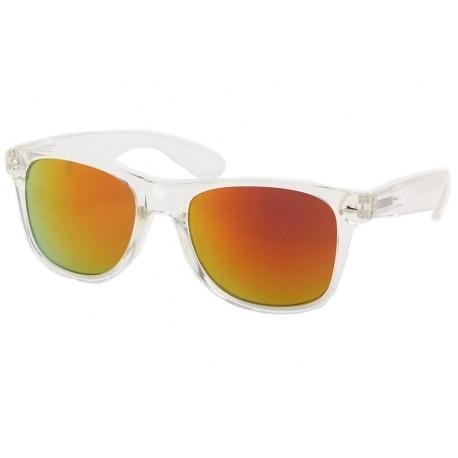 Lunettes de Soleil Mode Orange et Transparente Aero Lunettes de Soleil Eye Wear
