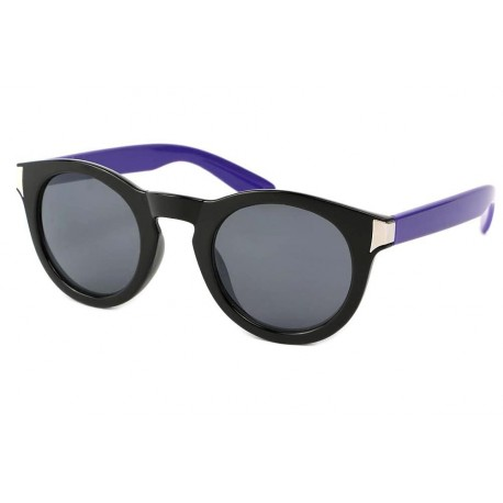 Lunettes de Soleil Rondes Noires et Violettes Really Lunettes de Soleil Eye Wear