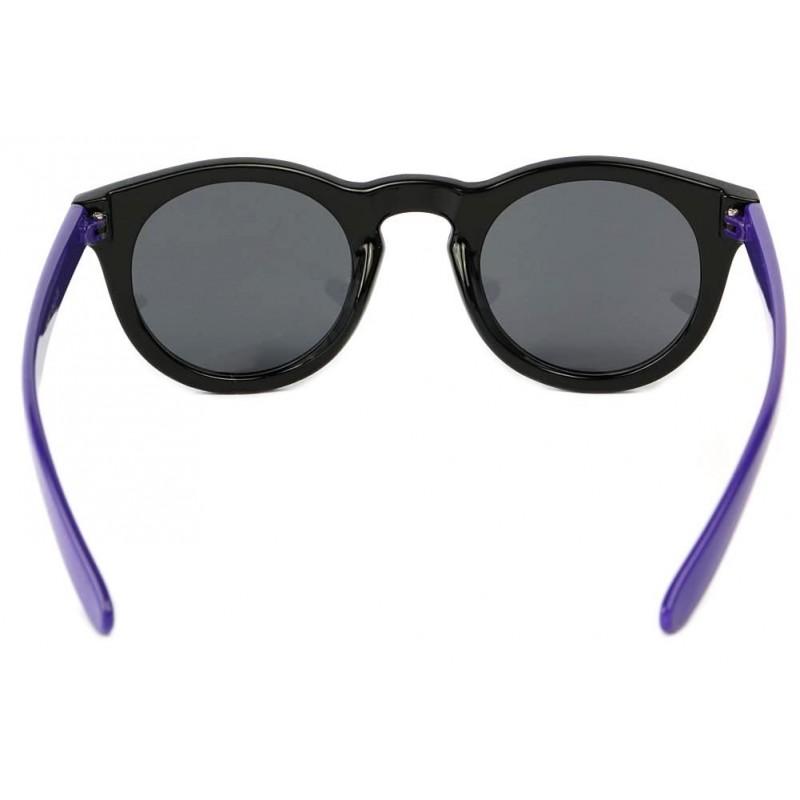 vente lunette de soleil femme ronde noir violette site lunettesloupe 1fbb61016b84
