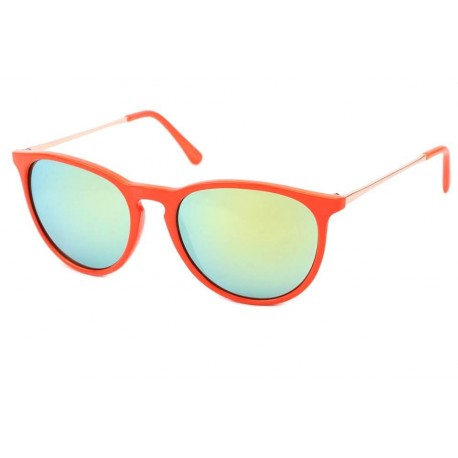 Lunettes de Soleil Rondes Rouge Orange Little L