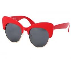 Lunettes de Soleil Femme Rouge Vintage Maryline Lunettes de Soleil Eye Wear