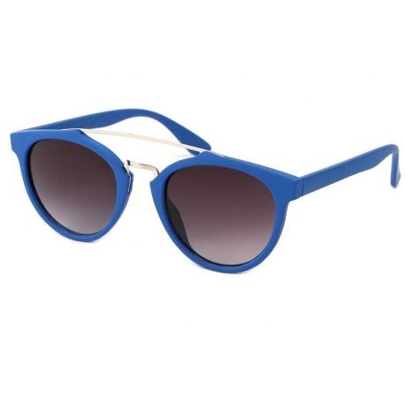 Lunettes de Soleil Rondes Bleues Girl Lunettes de Soleil Eye Wear
