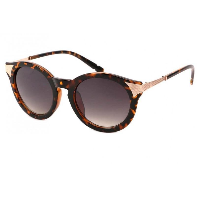 achat lunette soleil ronde vintage marron maria site lunettesloupe. Black Bedroom Furniture Sets. Home Design Ideas