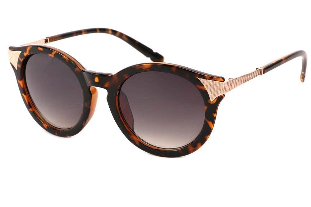 Lunettes de Soleil Rondes Vintage Marron Ecaille Maria Lunettes de Soleil  Eye Wear e4cad56ad73e