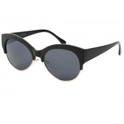 Lunette de Soleil vintage Noire et Dorée Icare Lunettes de Soleil Eye Wear