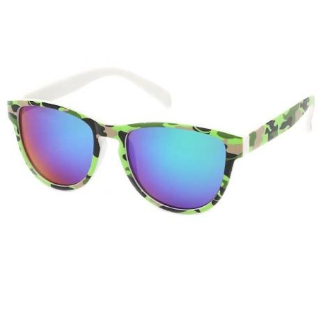 Lunette de Soleil Fashion Camouflage Vert Anis Fool Love Lunettes de Soleil Eye Wear