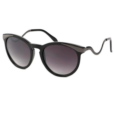 Lunettes de Soleil Femme Rondes Noires Zaza Lunettes de Soleil Eye Wear