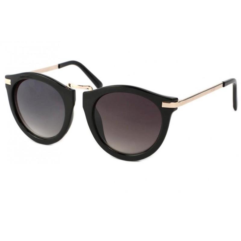 vente lunette de soleil ronde vintage noir rosita site lunettesloupe. Black Bedroom Furniture Sets. Home Design Ideas