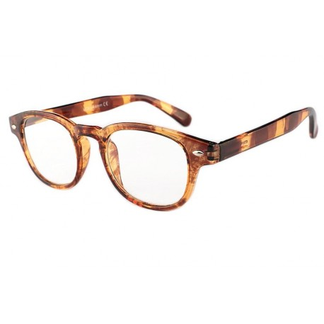 Lunettes Loupe Rondes Marron Ecaille Vintage Huko Lunette Loupe New Time