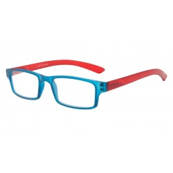 Lunette de Lecture rectangle Rouge et Bleue Asap