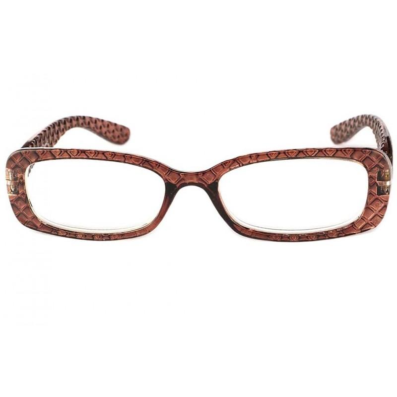 vente lunette de lecture femme marron damier apis. Black Bedroom Furniture Sets. Home Design Ideas