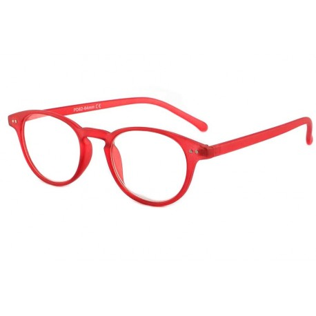 Lunette Loupe Ronde Mode Rouge Felt Lunette Loupe New Time