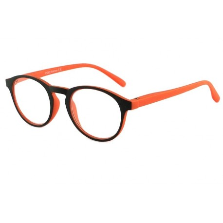 Lunette de Lecture Ronde Orange et Noire Sorel