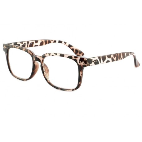 Lunettes de Lecture Leopard Marron Gio Lunette Loupe New Time