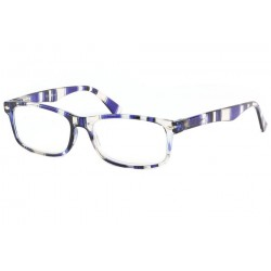 Lunettes loupe Tendance monture Bleu Transparente Alda