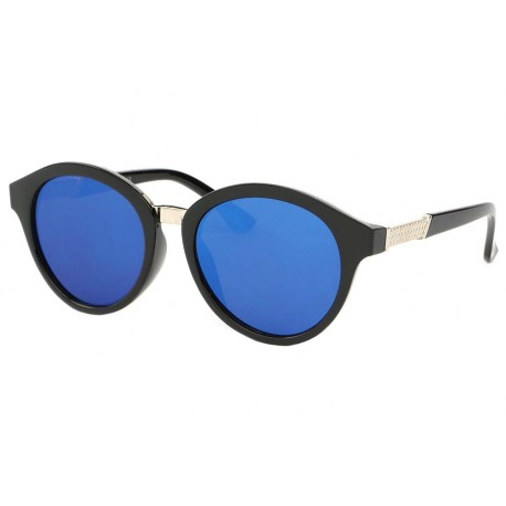 Lunettes de soleil Rondes Noir Verres miroir Bleu Ychel anciennes collections divers