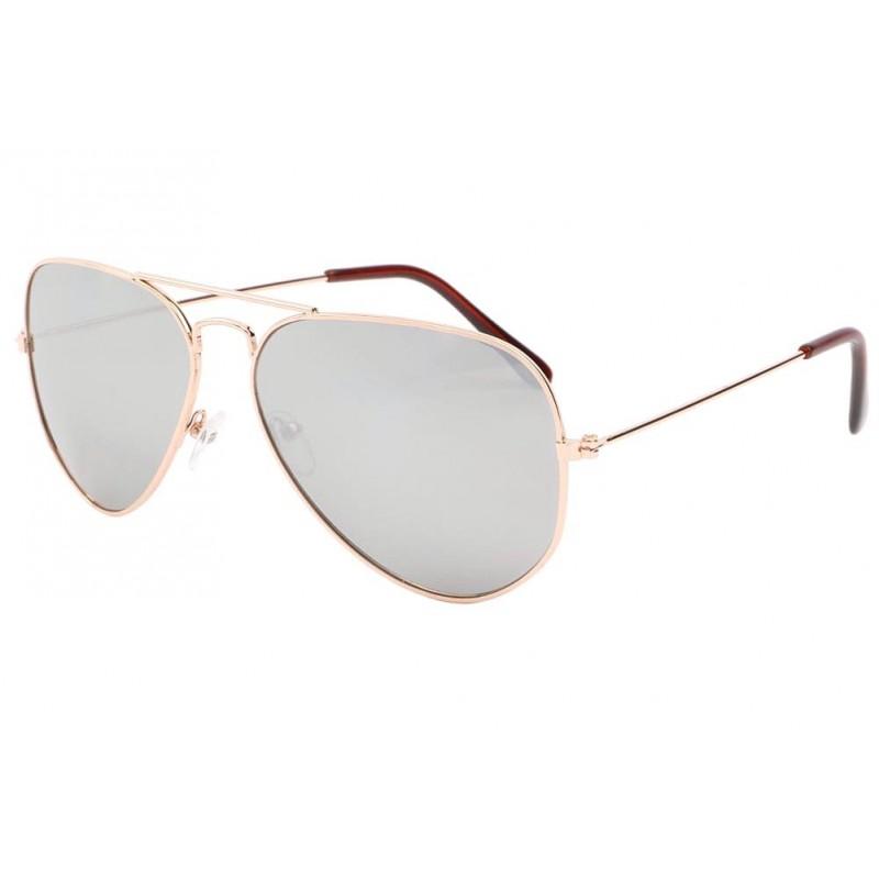 Lunette aviateur miroir monture dor becool solaire mode - Miroir en forme de lunette ...