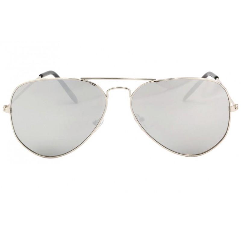 lunette aviateur miroir monture argent becool solaires. Black Bedroom Furniture Sets. Home Design Ideas