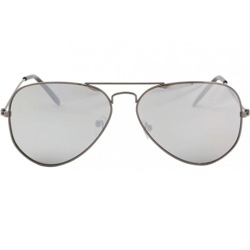 lunette aviateur miroir monture grise becool solaires. Black Bedroom Furniture Sets. Home Design Ideas