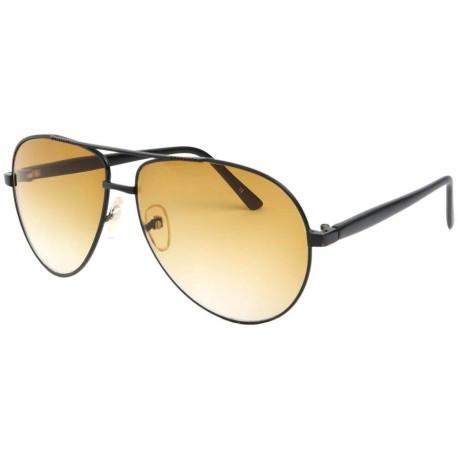 84287f2e7705d Lunette Aviateur Fashion Noir Jaune Yell - Solaire tendance livré 48h