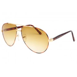 Lunette Aviateur Fashion Marron et Jaune Yell Lunettes de Soleil Eye Wear