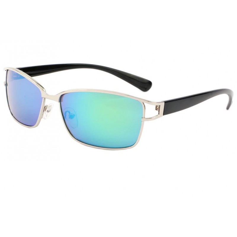 lunette de soleil tendance argent verre bleu cyrus livr. Black Bedroom Furniture Sets. Home Design Ideas