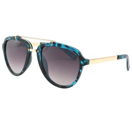 Lunettes Aviateur fashion Bleu Ecaille Dagio Lunettes de Soleil Eye Wear