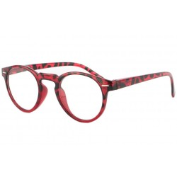 Lunettes Loupe Ronde Fantaisie Rouge Ogy