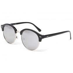 Lunette de soleil ronde retro noir Tuxy Lunettes de Soleil Eye Wear