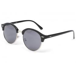 Lunette de soleil ronde vintage noir Tuxy Lunettes de Soleil Eye Wear
