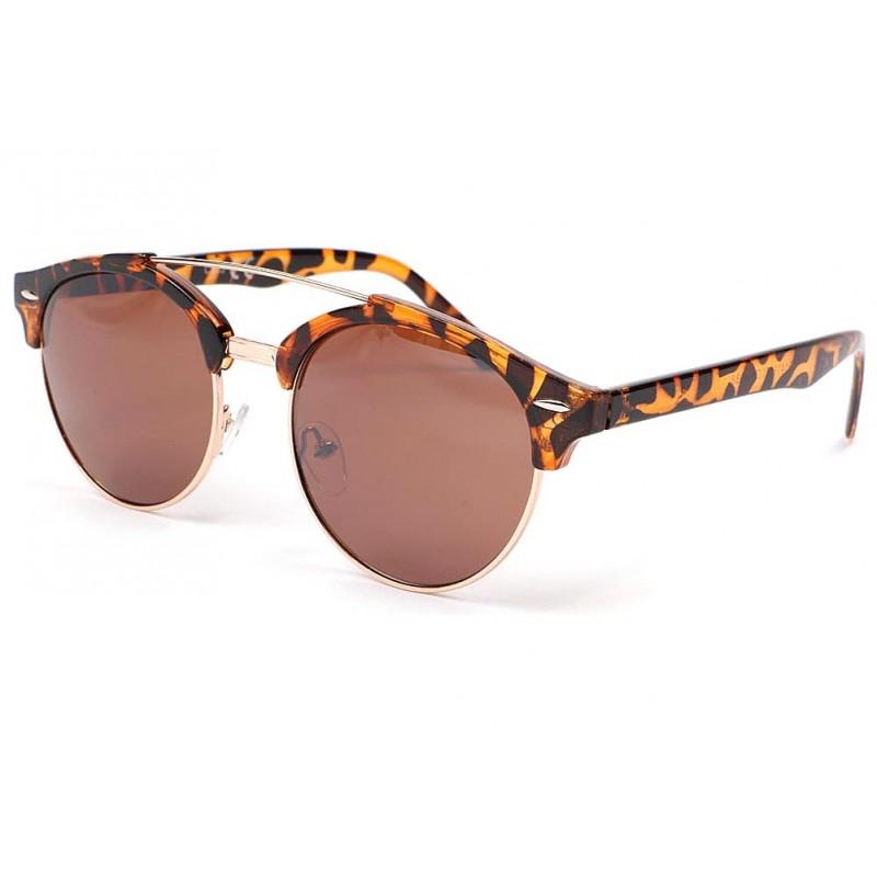 lunette de soleil ronde vintage marron kroll lunette. Black Bedroom Furniture Sets. Home Design Ideas