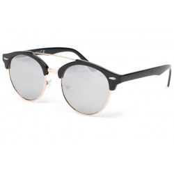 Lunette de soleil ronde miroir noir Kroll Lunettes de Soleil Eye Wear
