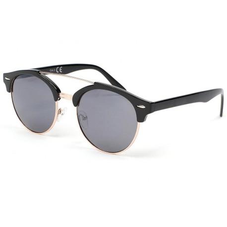 Lunette de soleil ronde vintage noir Kroll Lunettes de Soleil Eye Wear