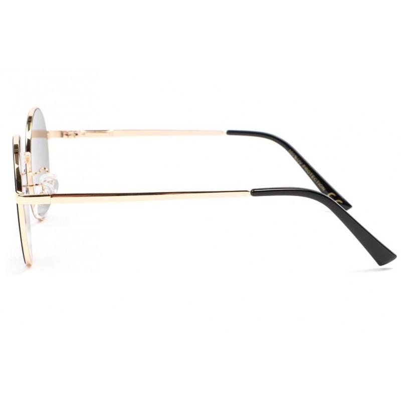 lunette soleil ronde miroir argent kyl lunette vintage livraison 48h. Black Bedroom Furniture Sets. Home Design Ideas