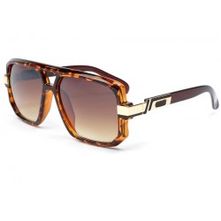 Grande lunette soleil marron Brad anciennes collections divers