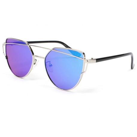 Lunette soleil miroir Bleu Alda, lunette