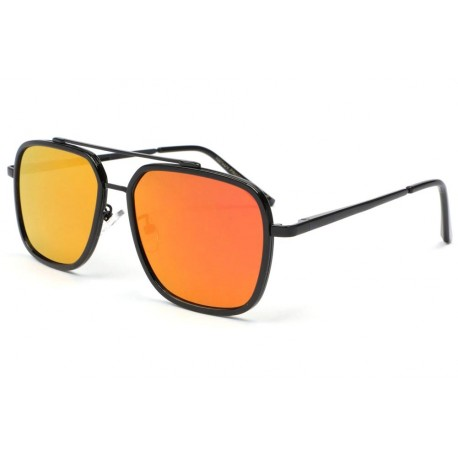Lunette soleil noir miroir orange Way anciennes collections divers