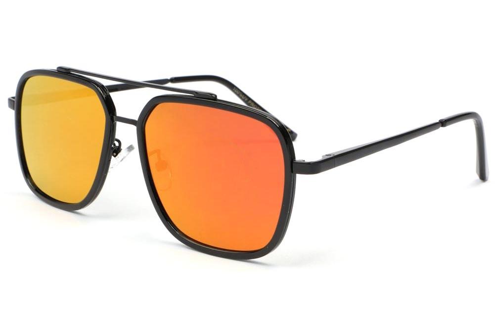 1110c748991a5 Lunette soleil noir miroir orange Way Lunettes de Soleil Spirit of Sun