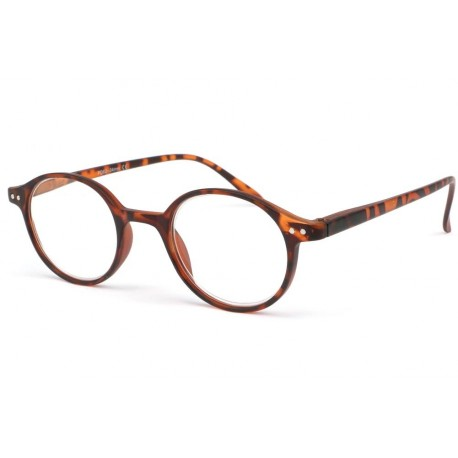 Lunette loupe marron ecaille ronde News Lunette Loupe New Time
